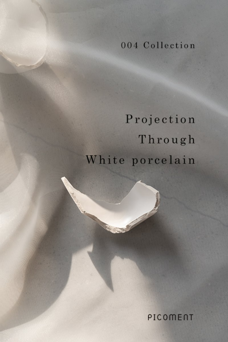 The 4th jewelry collection called 'Projection through White Porcelain' was designed to capture the aesthetics and meaning of the white porcelain during the Joseon Dynasty.